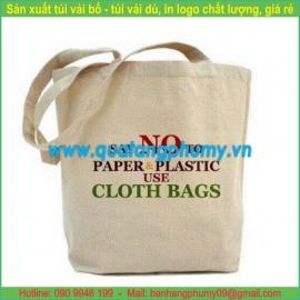 Túi vải bố - túi vải cotton TB24