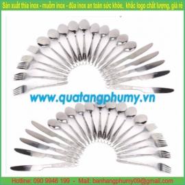 Bộ thìa - dĩa - dao ăn inox TDD23