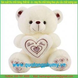 Gấu bông ôm tim SA26